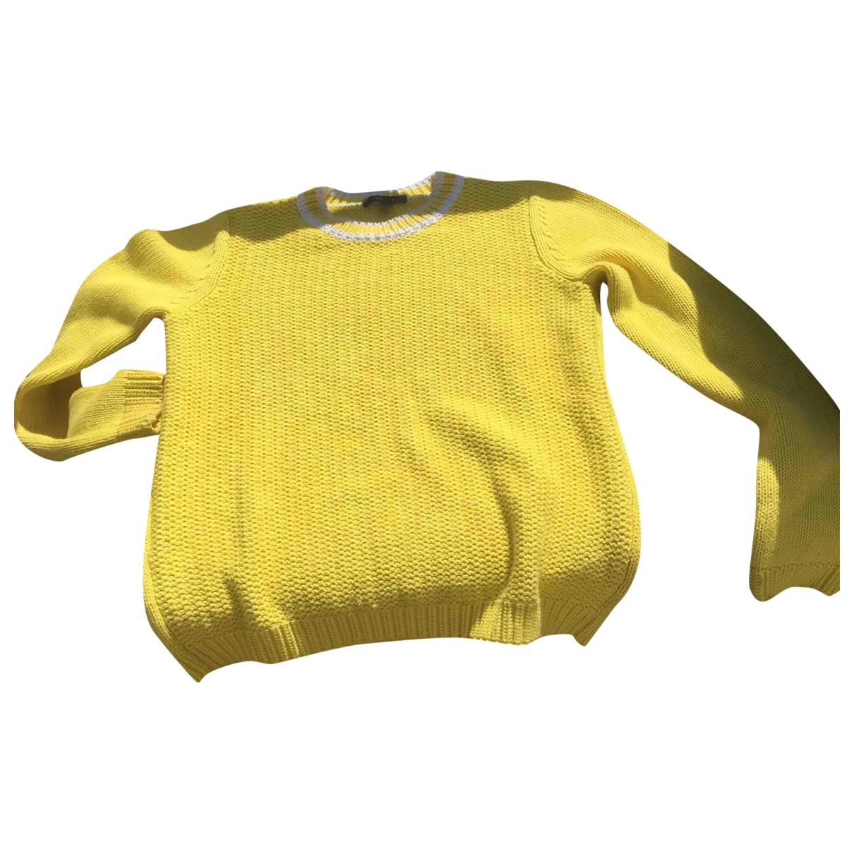 Faconnable - Pull   pour femme en coton - jaune