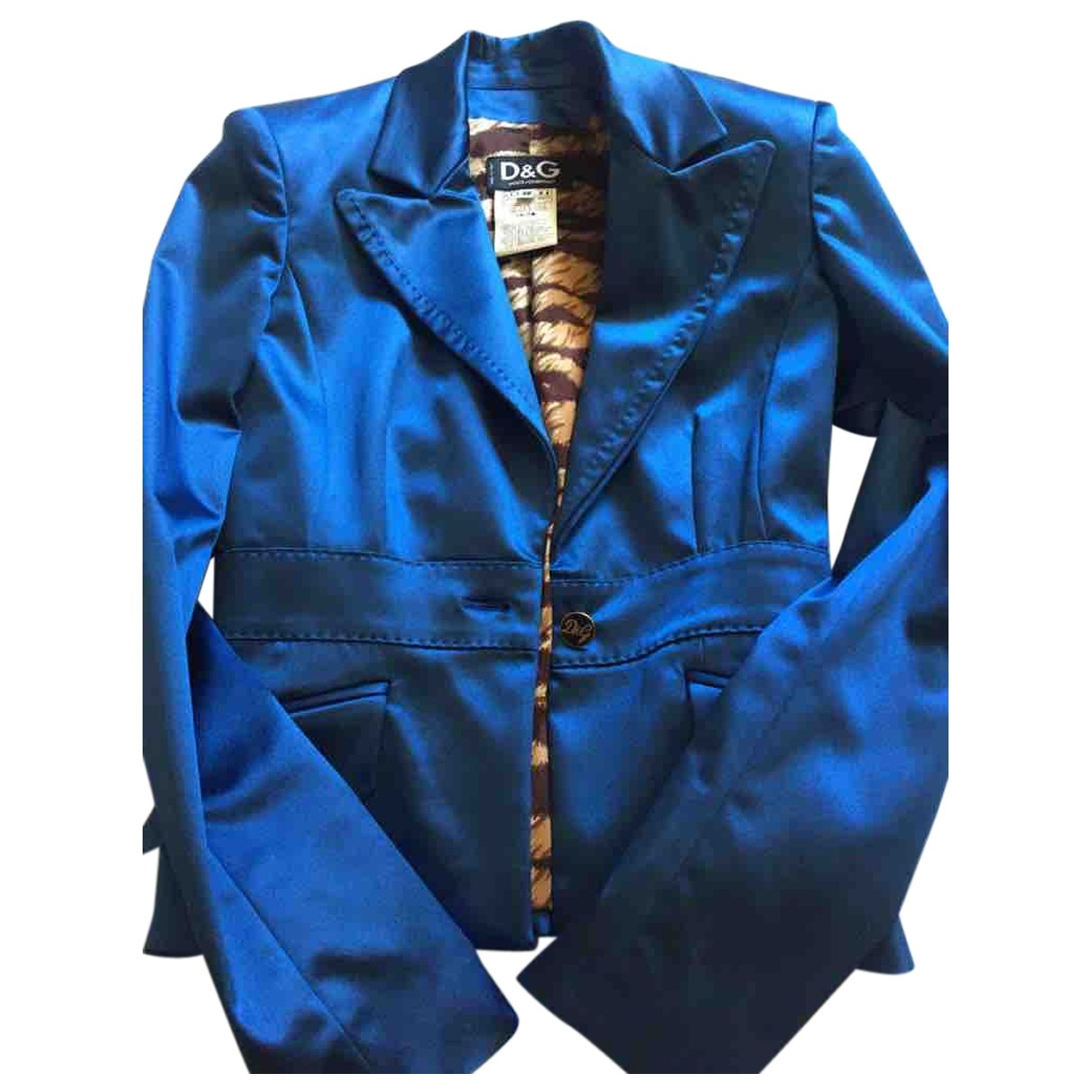 D&g \N Blue Silk jacket for Women 38 IT