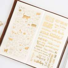 1sheet Random Metallic Letter & Graphic Sticker