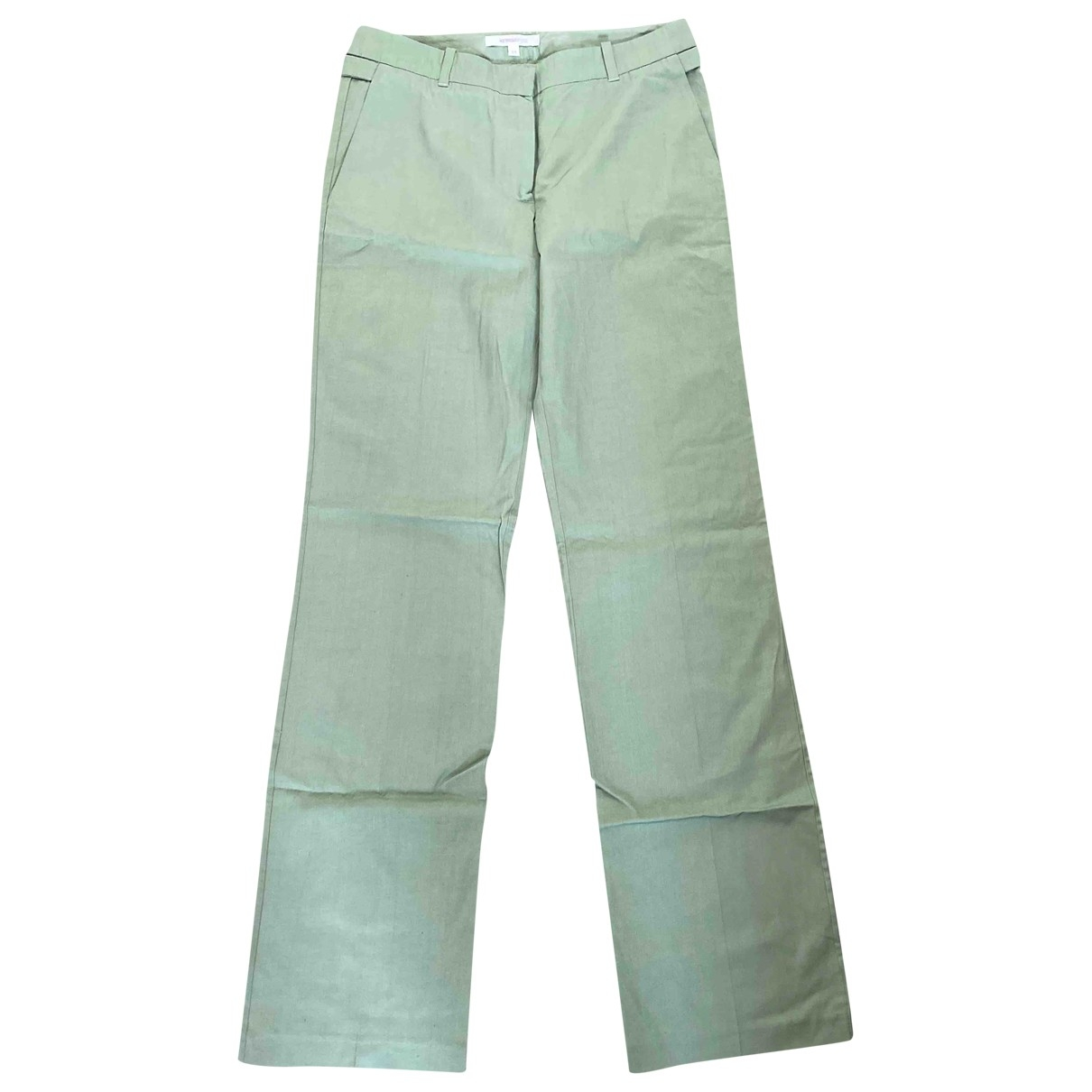 Vanessa Bruno \N Green Silk Trousers for Women 34 FR