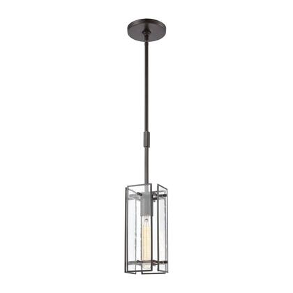 32391/1 Hyde Park 1-Light Mini Pendant in Oil Rubbed Bronze with Seedy