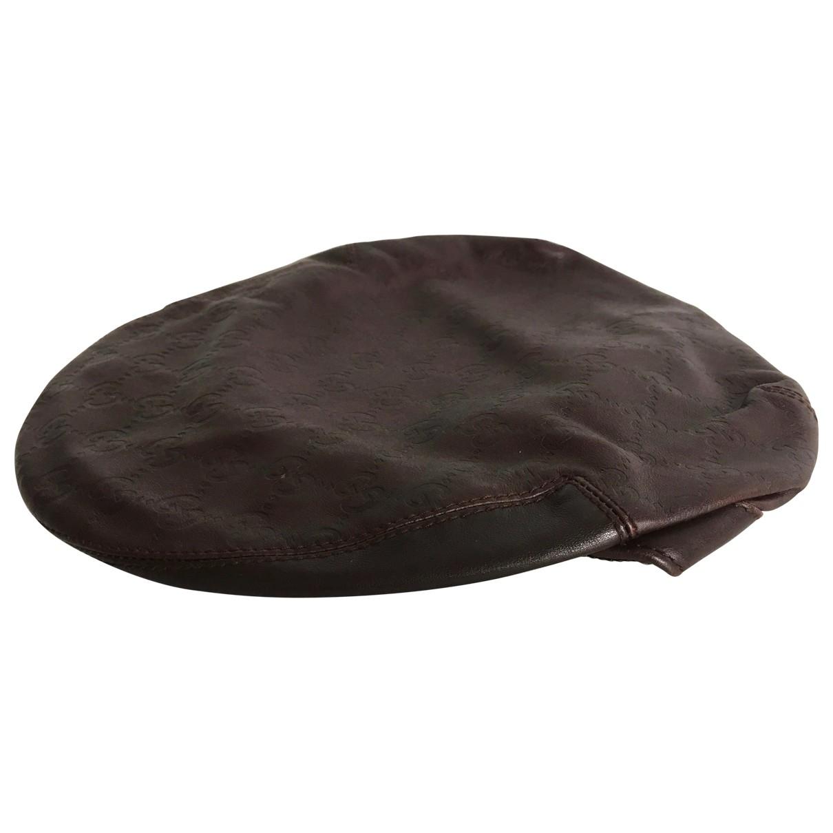 Gucci - Chapeau   pour femme en cuir - marron