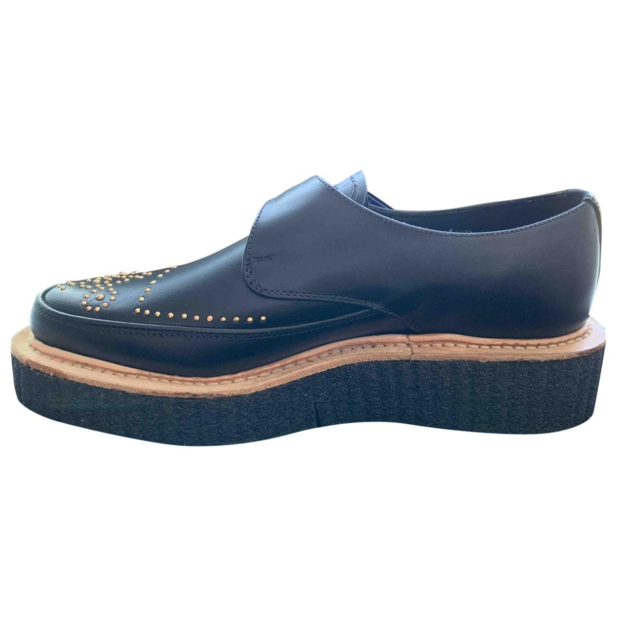 Rupert Sanderson \N Black Leather Flats for Women 38.5 EU
