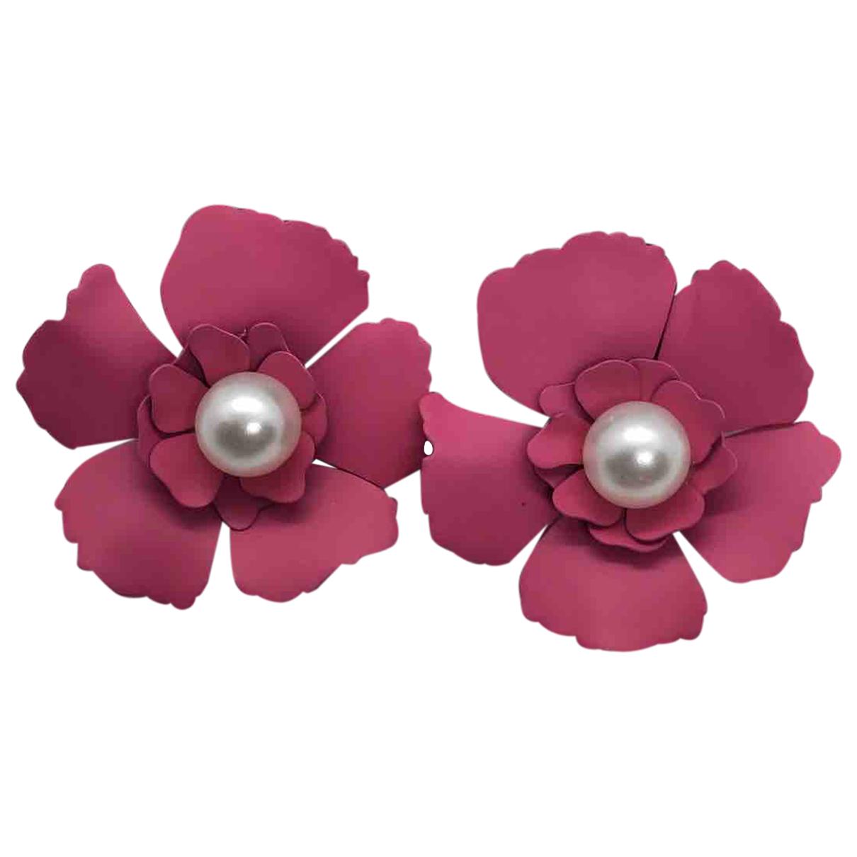 - Boucles doreilles Motifs Etoiles pour femme en ceramique - rose