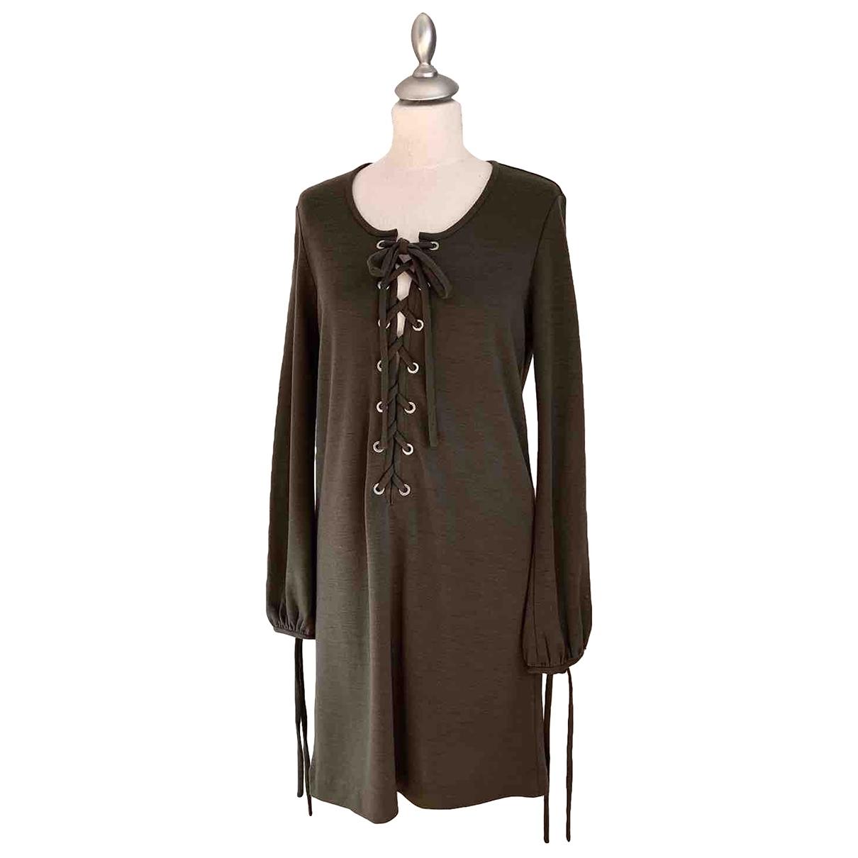 Isabel Marant Etoile \N Kleid in  Khaki Wolle