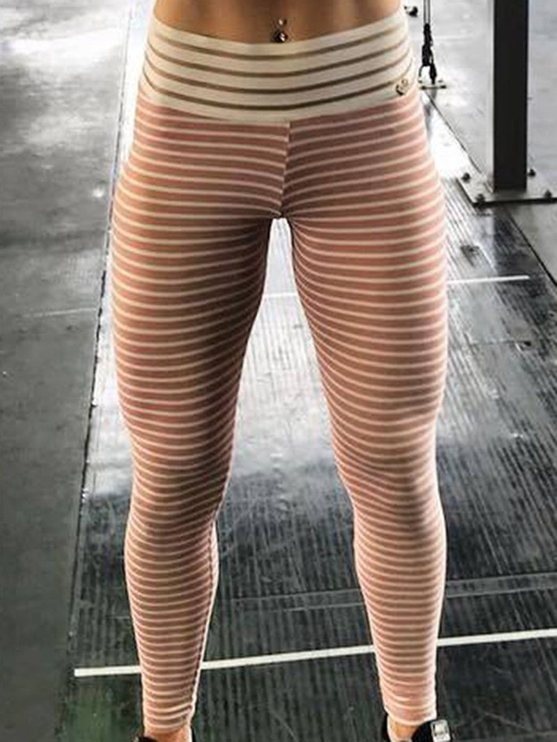 Ericdress Polyester Patchwork Anti-Sweat Stripe Female Leggings