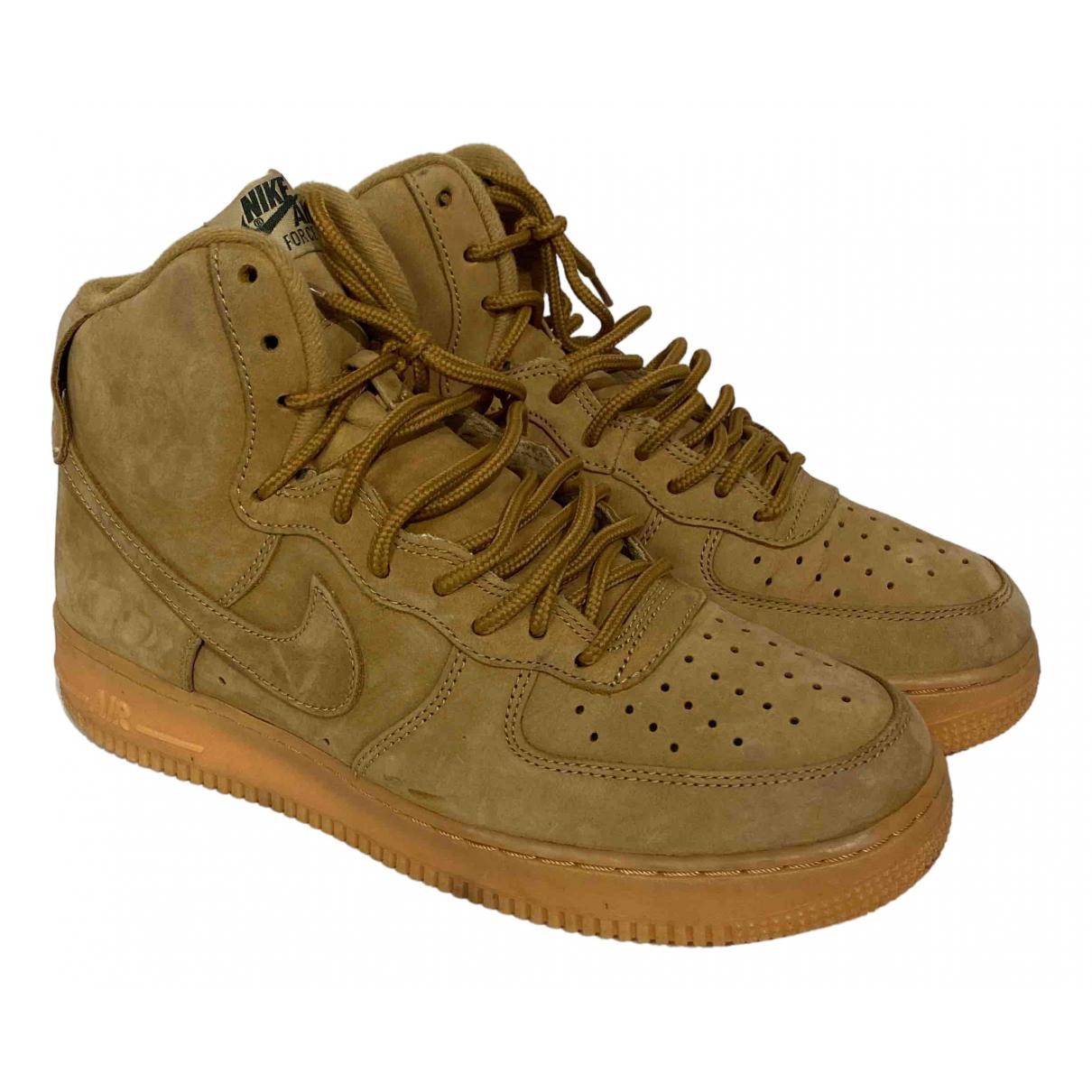 Nike - Baskets Air Force 1 pour homme en suede - marron