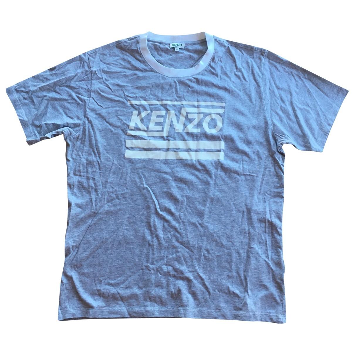 Kenzo - Tee shirts   pour homme en coton - gris
