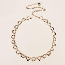 Heart Decor Chain Belt