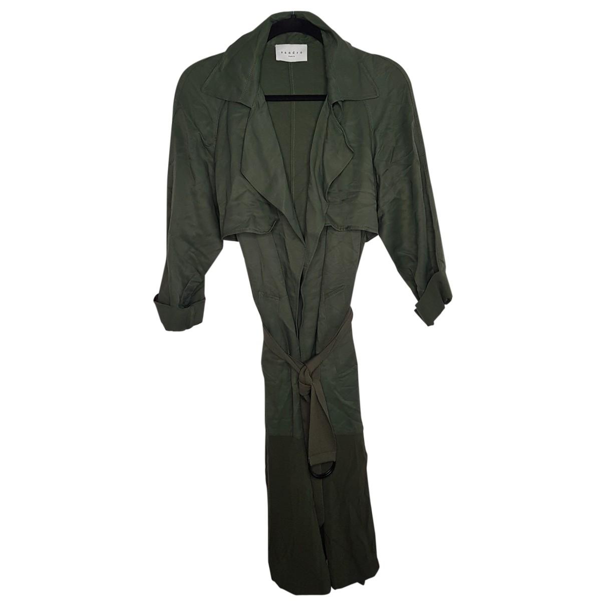 Sandro \N Khaki coat for Women 36 FR