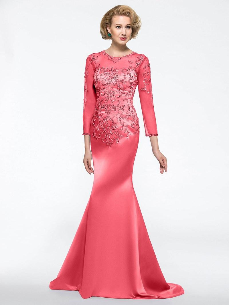 Ericdress 3/4 Length Sleeves Beadings Mermaid Mother of the Bride Dress