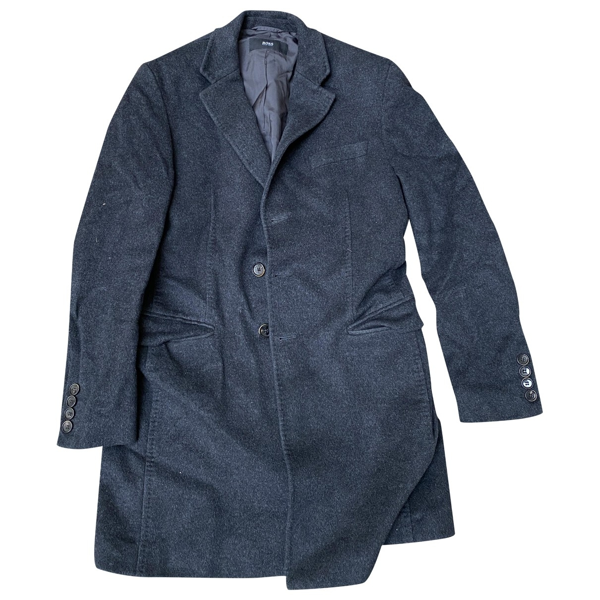 Boss \N Maentel in  Grau Wolle