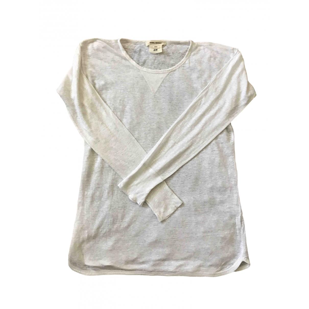 Isabel Marant Pour H&m - Top   pour femme en lin - blanc