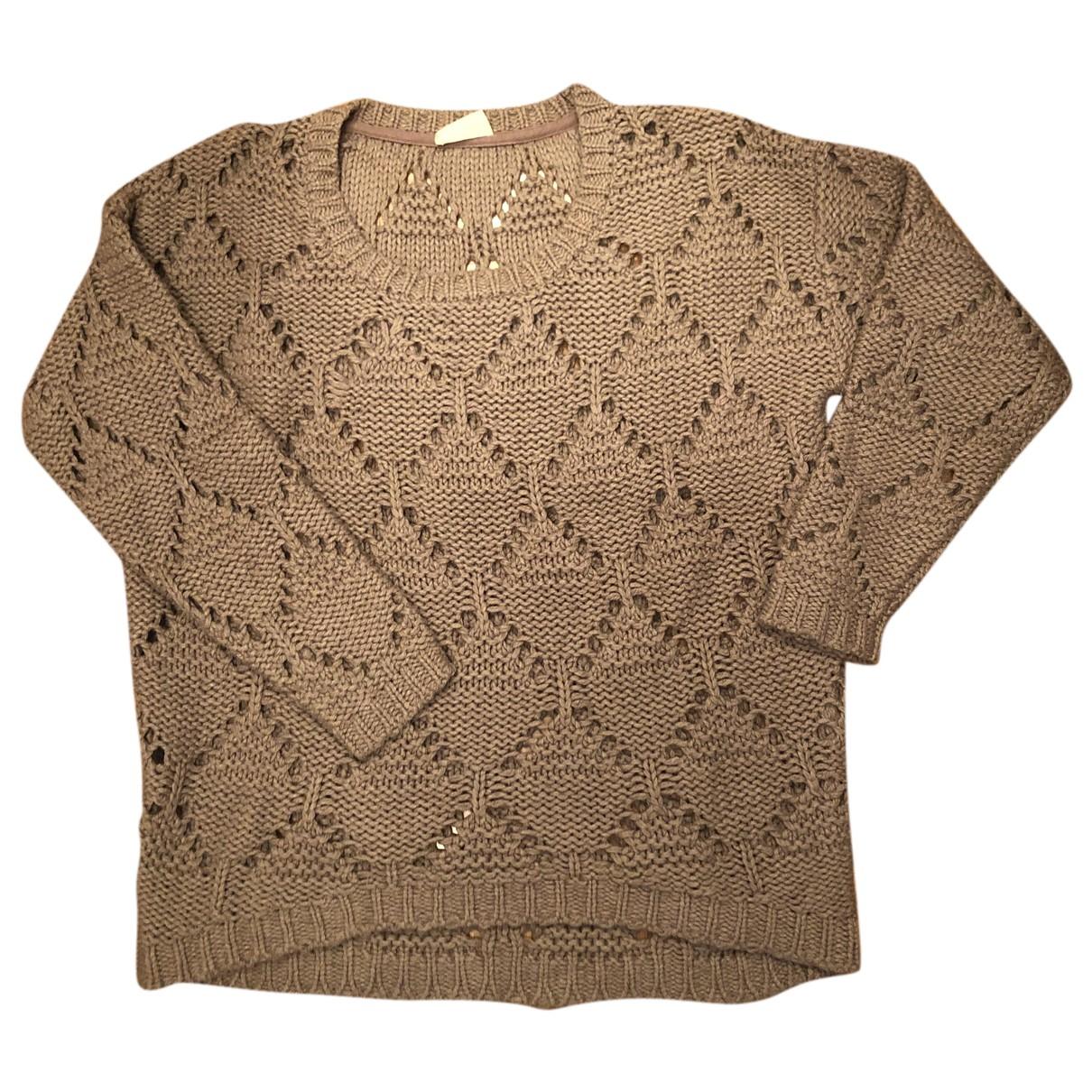 American Vintage - Pull   pour femme en laine - beige