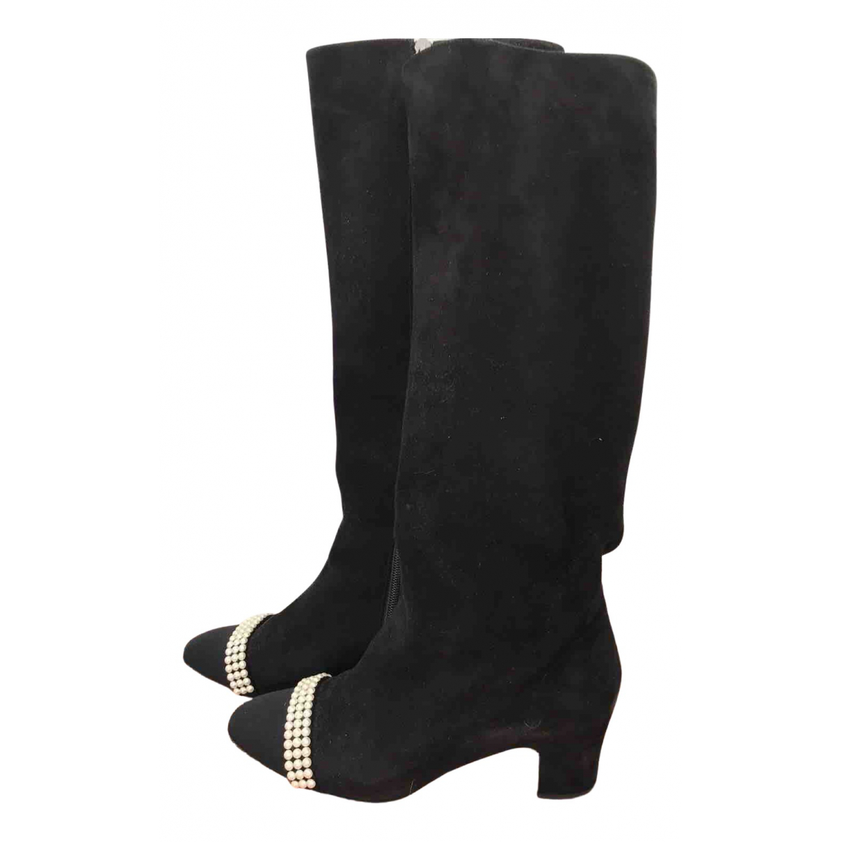 Chanel \N Black Suede Boots for Women 40 EU