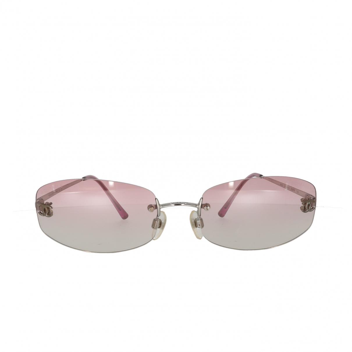 Chanel \N Pink Metal Sunglasses for Women \N