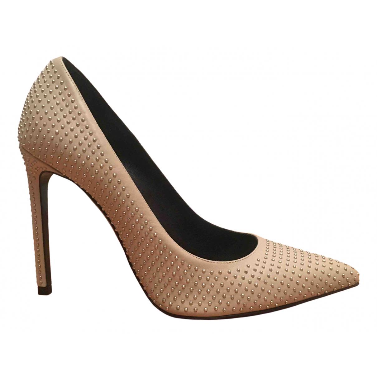 Saint Laurent N Beige Leather Heels for Women 38.5 IT
