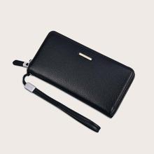 Maenner Brieftasche mit Reissverschluss und Armband