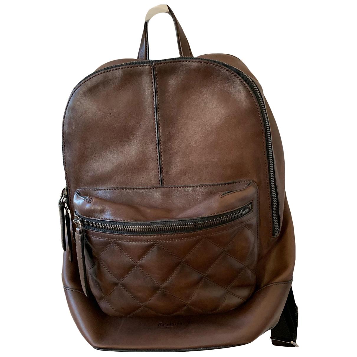 Berluti N Brown Leather bag for Men N