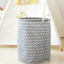 Geometric Pattern Clothes Storage Basket