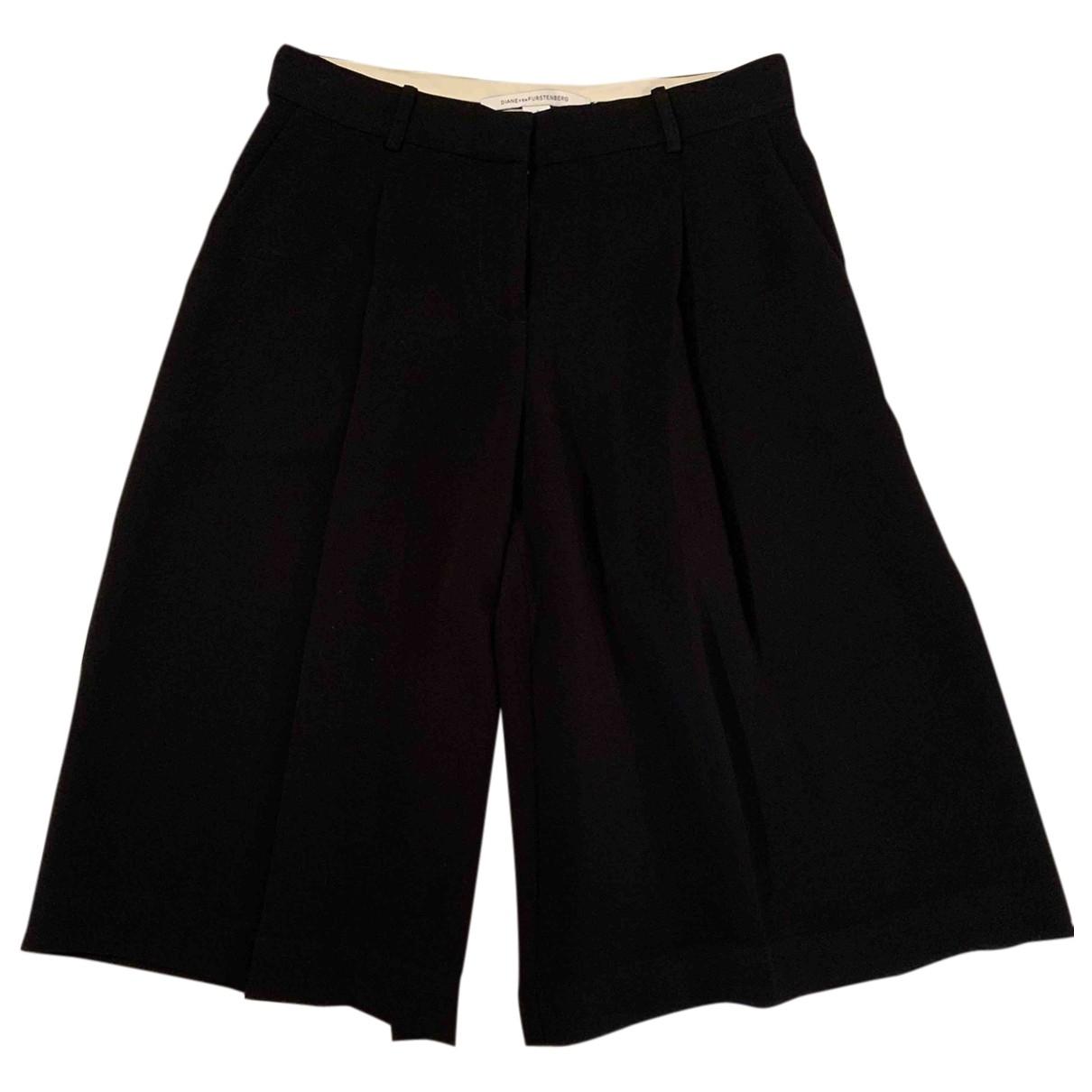 Pantalon en Poliester Negro Diane Von Furstenberg