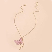 Hollow Butterfly Chain Necklace