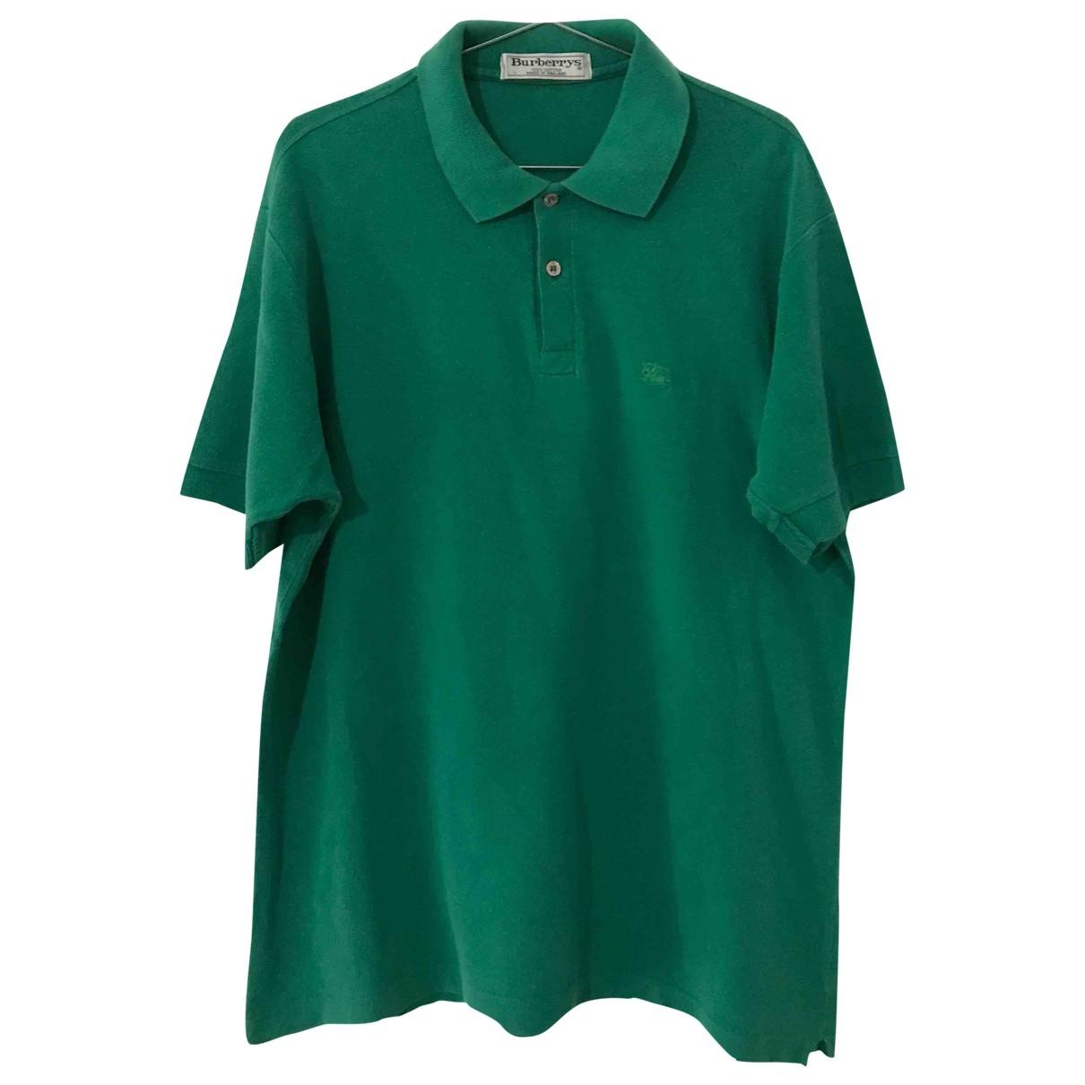 Burberry - Polos   pour homme en coton - vert
