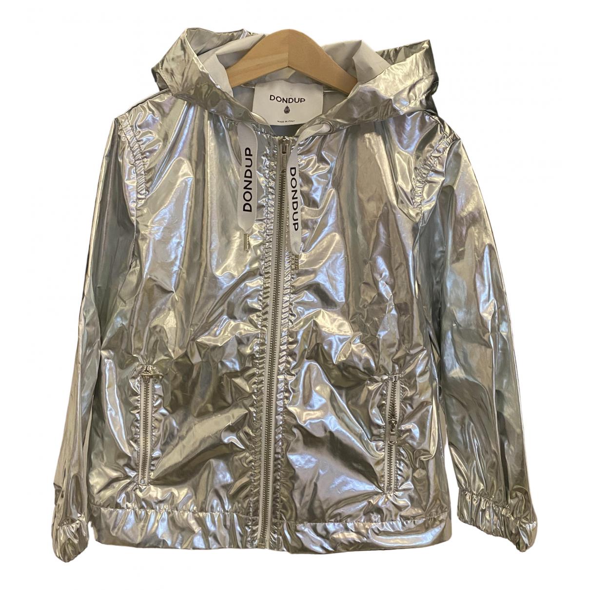 Dondup - Blousons.Manteaux   pour enfant en coton - metallise