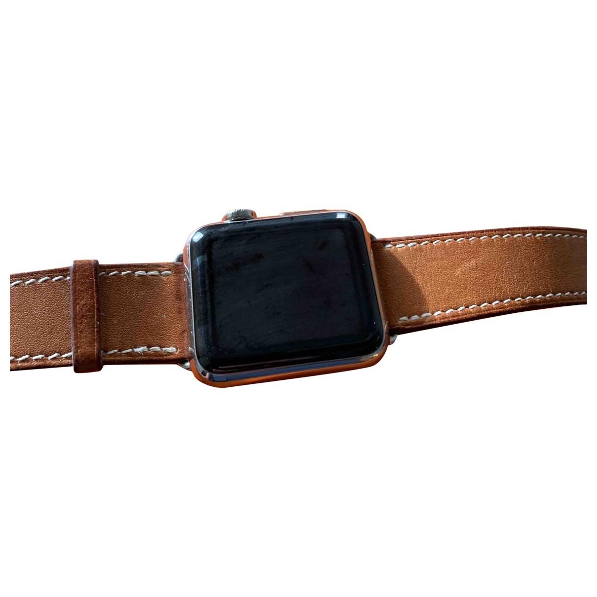 Hermes - Montre Apple Watch x Hermes 38mm pour femme en acier - noir