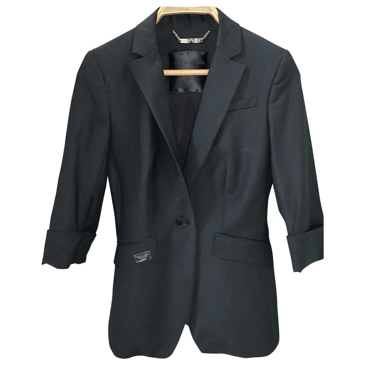 Philipp Plein - Veste   pour femme en laine - noir
