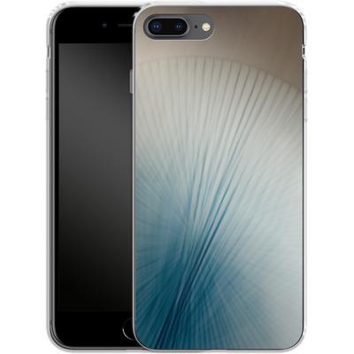 Apple iPhone 7 Plus Silikon Handyhuelle - Blue Lines 2 von Joy StClaire