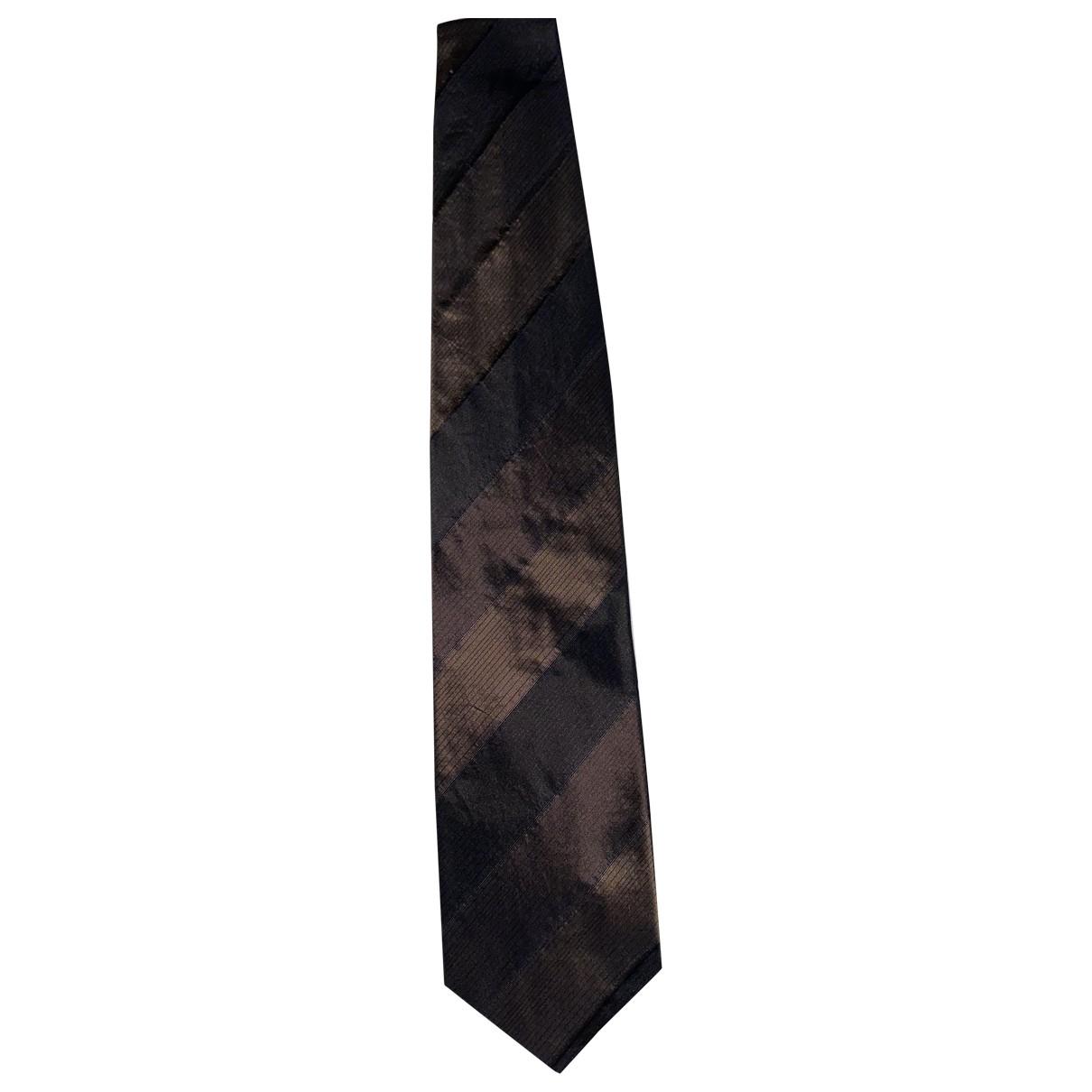 Boss \N Krawatten in  Braun Seide