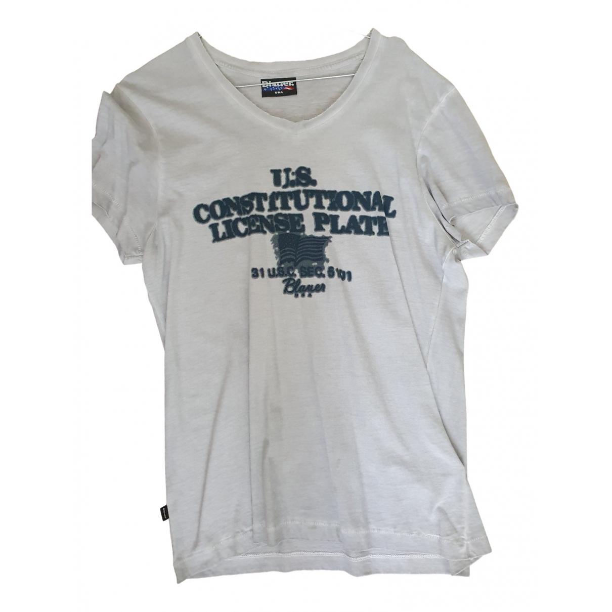 Blauer \N Grey Cotton T-shirts for Men M International