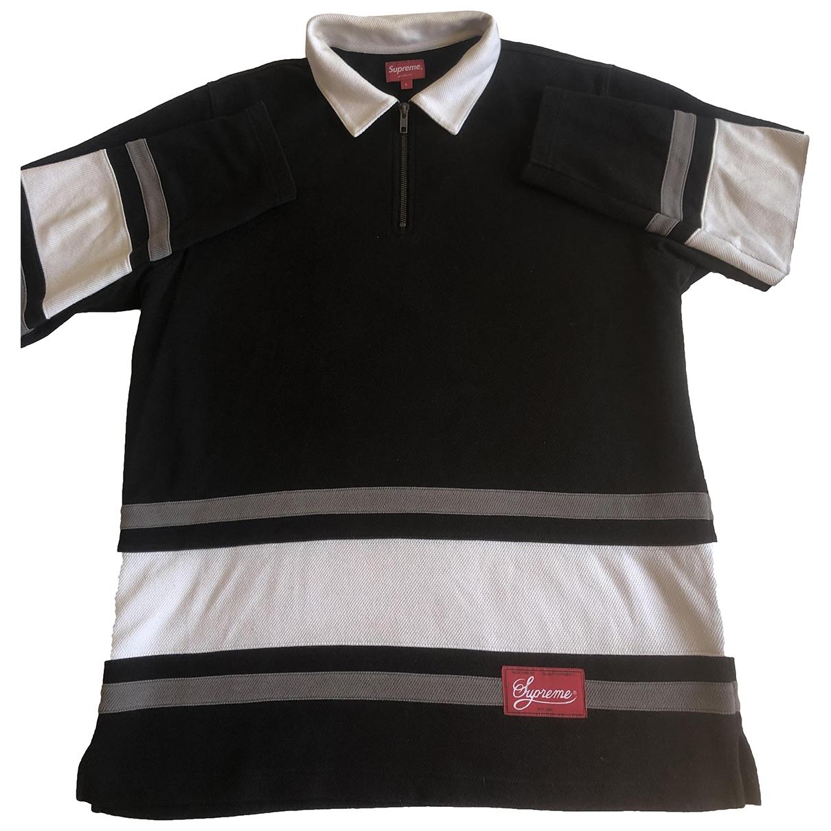 Supreme - Polos   pour homme en coton - noir