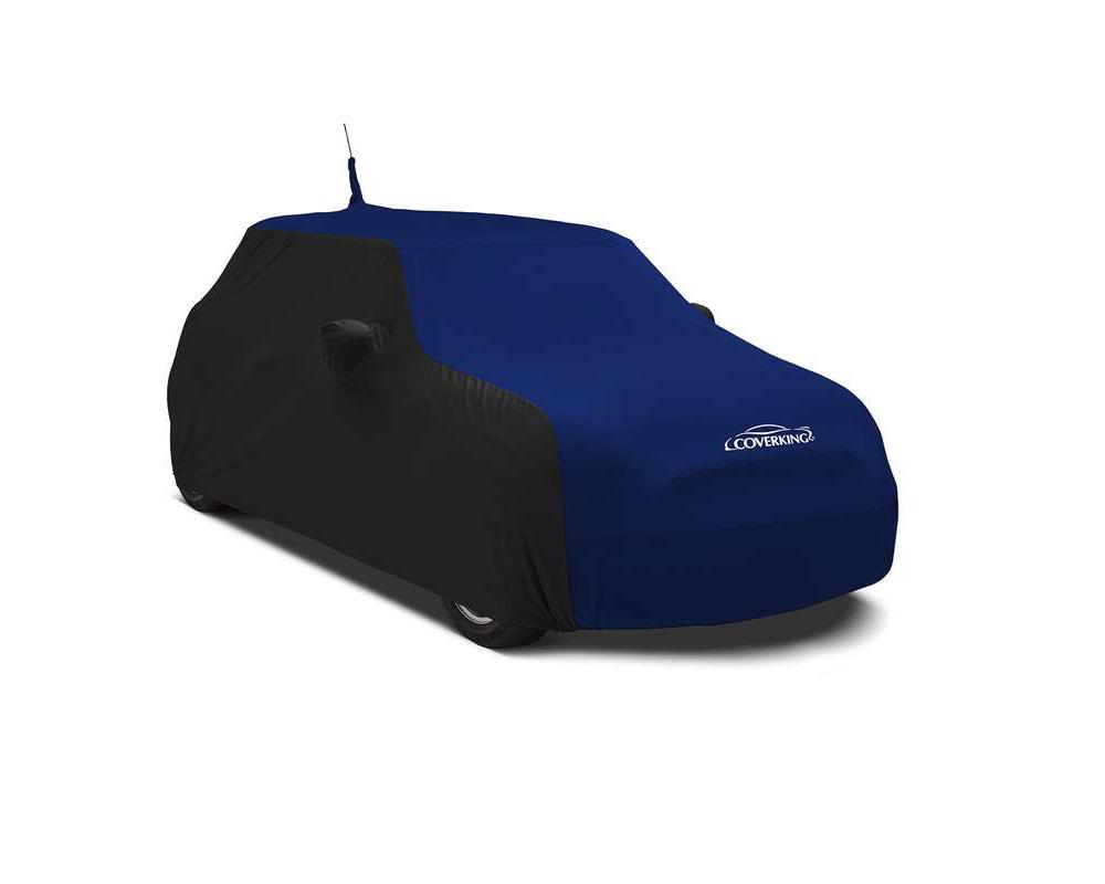 Coverking CVC3SS275CH9952 CVC3SS275 Coverking CVC3SS275CH9952 Satin Stretch 2-Tone Black Sides Impact Blue Center Class 3 Custom Car Cover Chevrolet C
