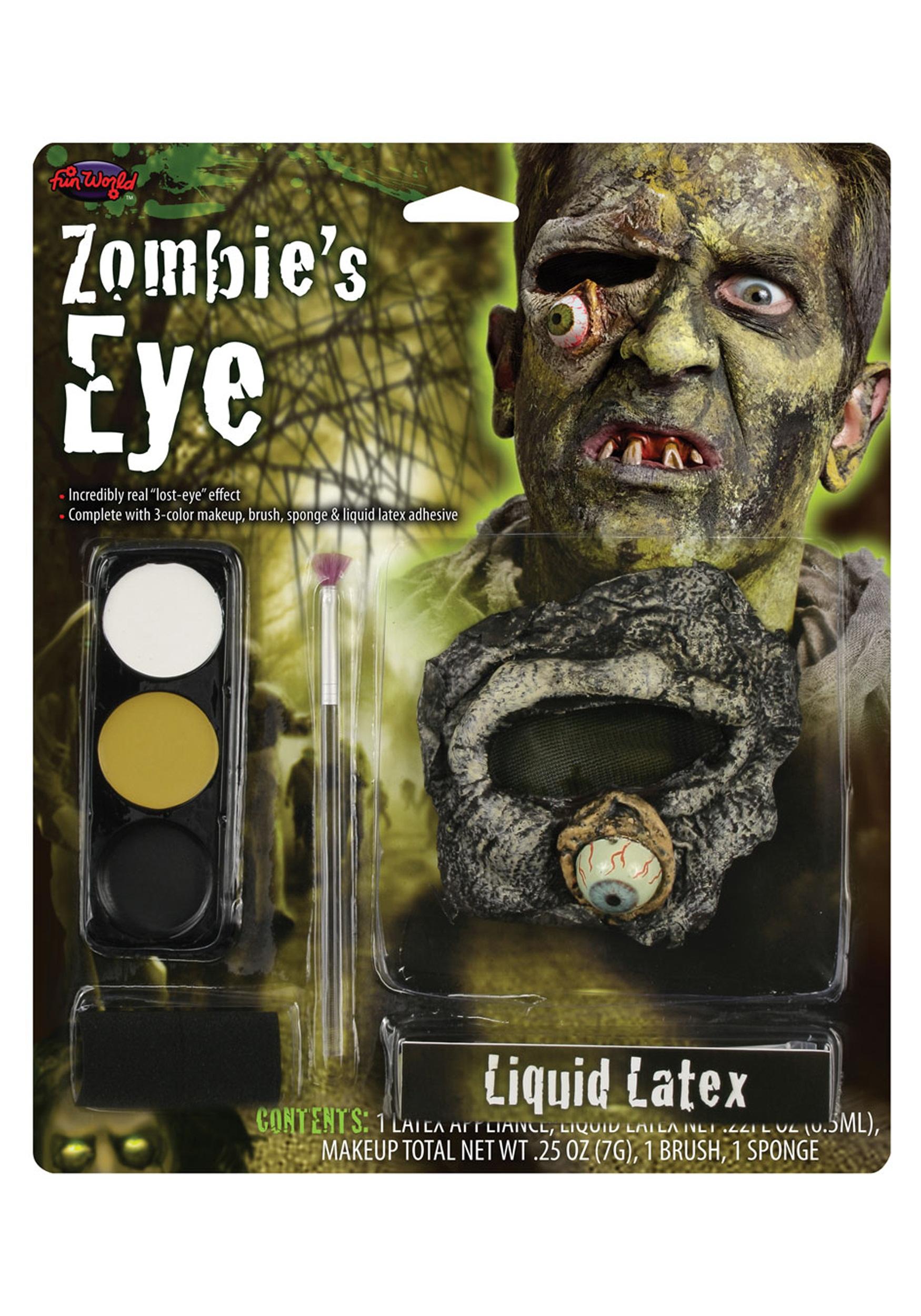 Fun World Zombie's Eye Latex Makeup Kit