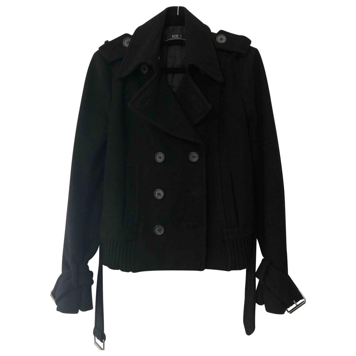 Iceberg \N Black Wool coat for Women L International