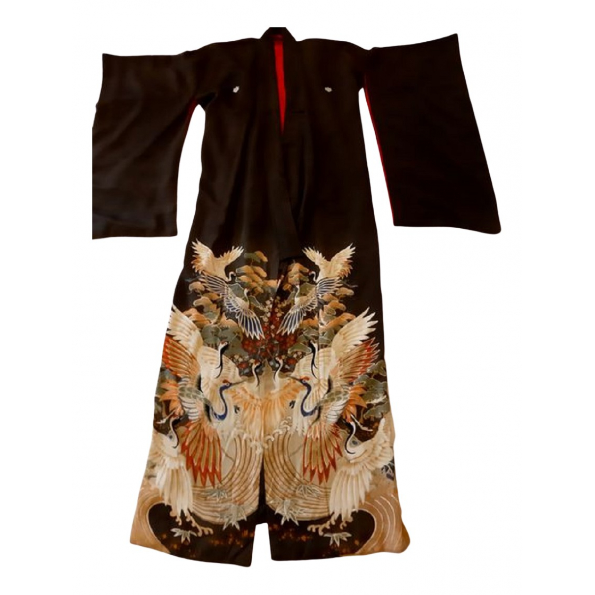 Non Signé / Unsigned N Brown Silk jacket for Women L