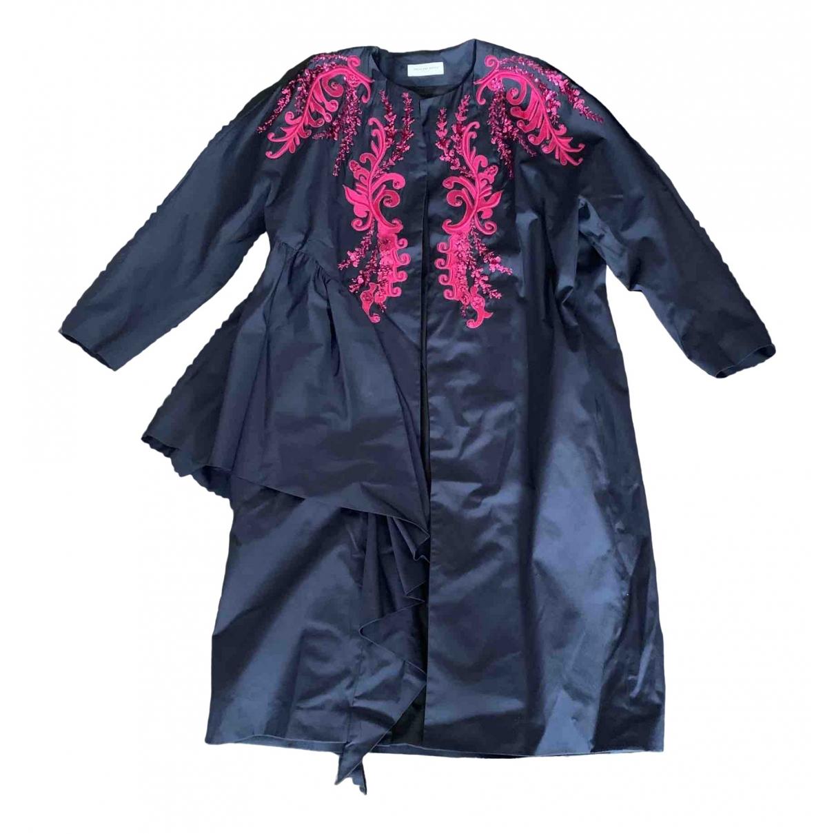 Dries Van Noten - Manteau   pour femme en coton - bleu