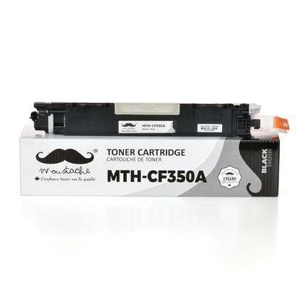 Compatible HP 130A CF350A cartouche de toner noir - Moustache - 1/Paquet