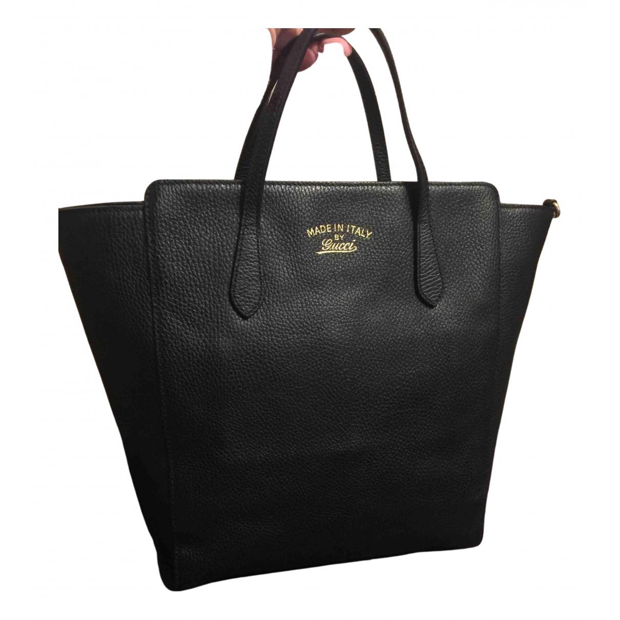 Gucci Swing Black Leather handbag for Women N