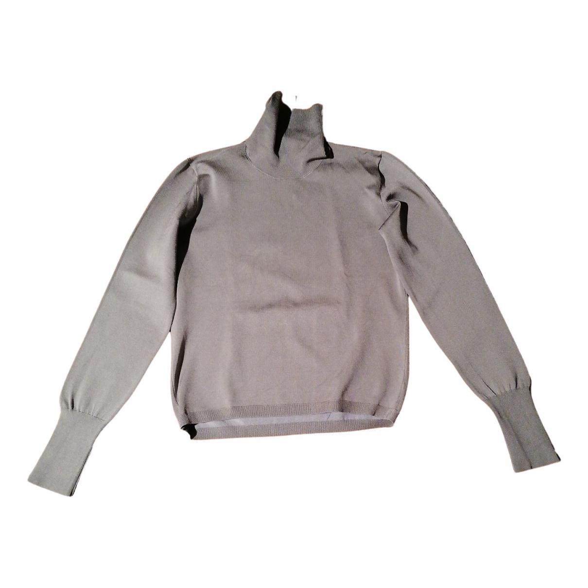 Yves Saint Laurent - Pull   pour femme en soie - gris