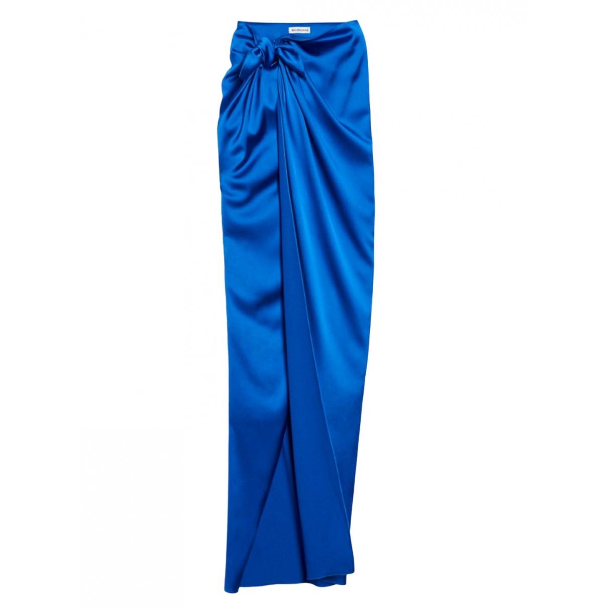 Balenciaga \N Rocke in  Blau Synthetik