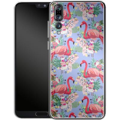 Huawei P20 Pro Silikon Handyhuelle - Flamingo Tropical von Mukta Lata Barua