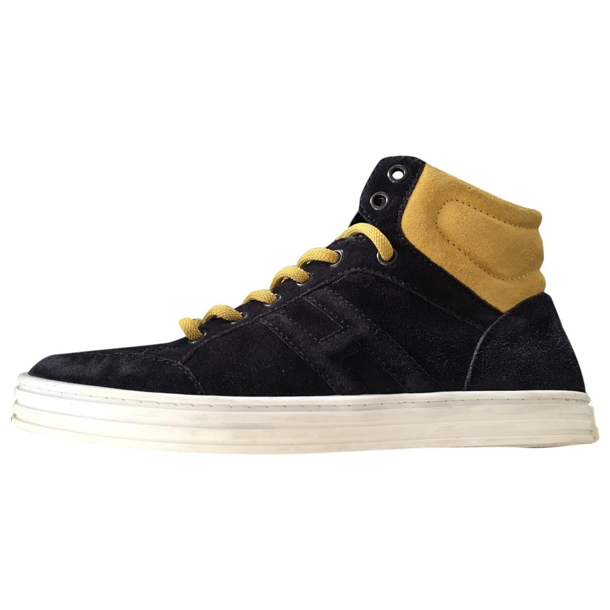 Hogan \N Sneakers in  Blau Veloursleder