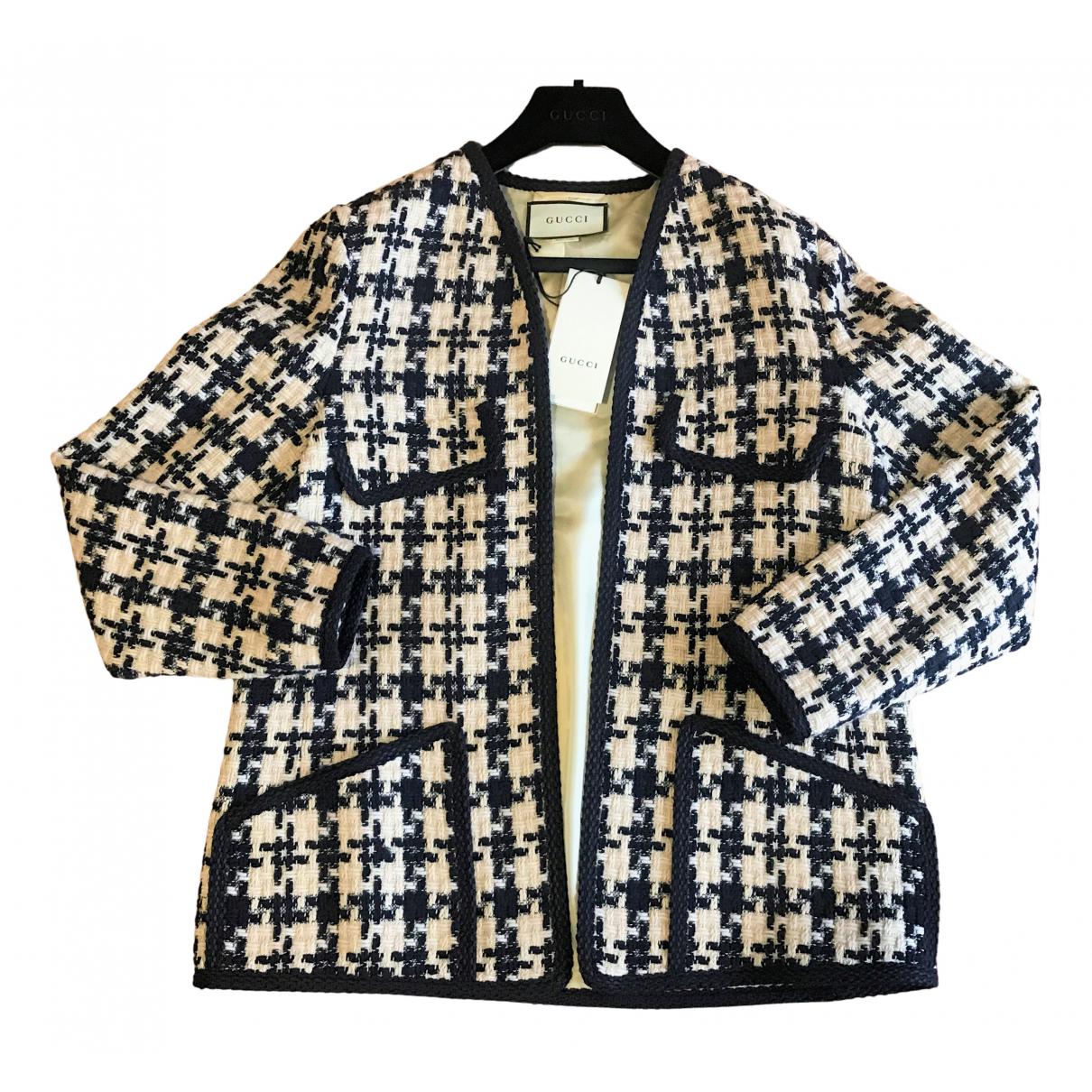 Gucci - Veste   pour femme en tweed - marine