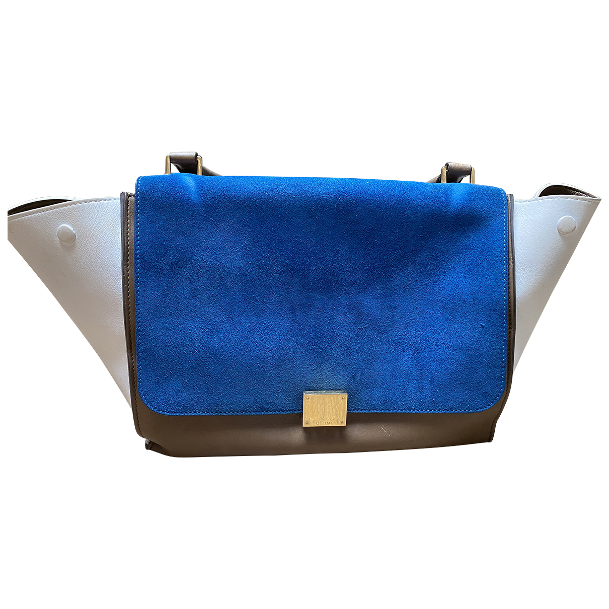 Celine Trapèze Blue Leather handbag for Women N