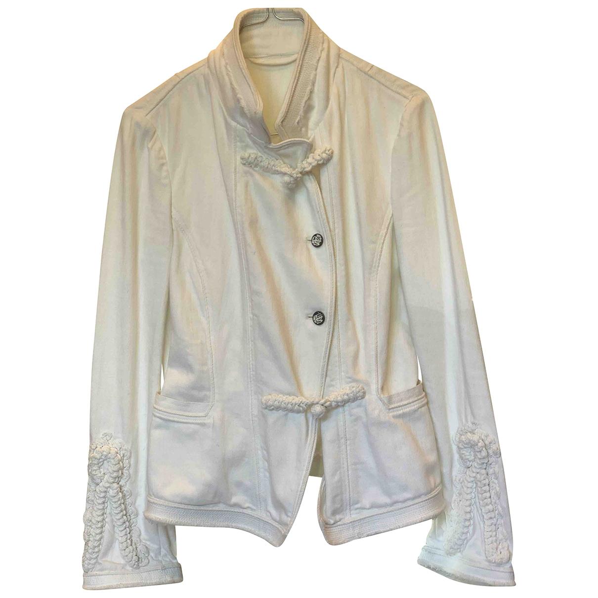 Ermanno Scervino \N White Cotton jacket for Women 42 IT