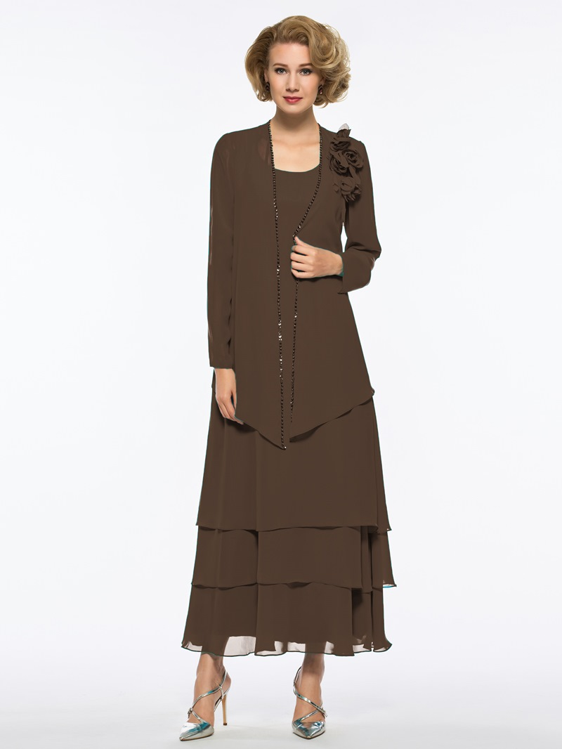 Ericdress Tiered Ankle Length Mother of The Bride Dress with Jacket