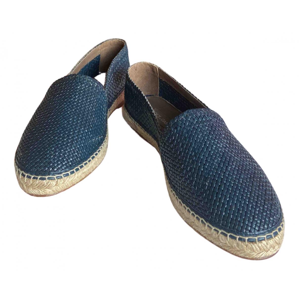 Dolce & Gabbana \N Blue Leather Espadrilles for Men 44 EU